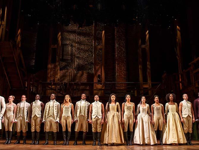 Hamilton på Broadway tickets - rollebesetningen