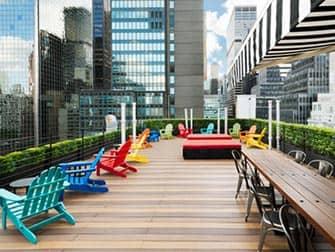 Pod 51 Hotel i New York - Takterrasse og bar
