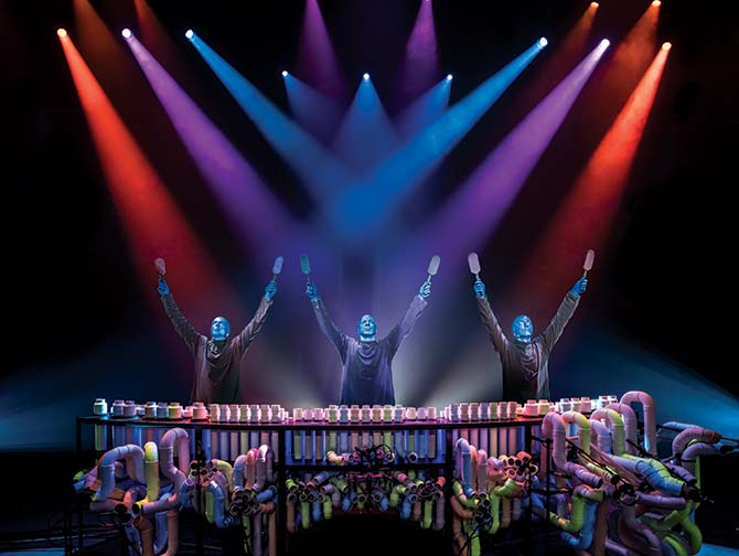 Blue Man Group i New York tickets - Trommer