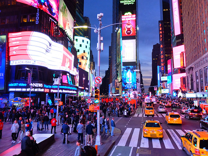 Gray Line Hop on Hop off bus i New York - Kveldstur