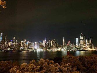 New York Night Tour - Skyline sett fra New Jersey