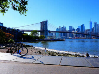 Leie sykkel i New York - Brooklyn Bridge