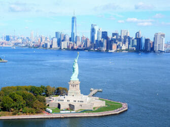 Helikoptertur uten dører i New York - Frihetsgudinnen