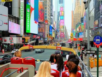 Forskjellen mellom New York Sightseeing Day Pass og New York Pass - Hop-on-Hop-off-buss