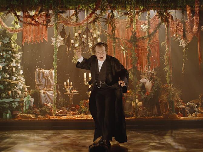 A Christmas Carol på Broadway Tickets - Scrooge og The Ghost of Christmas Present