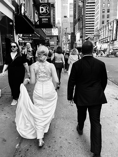 Bryllupsfotograf i New York - Gatebilde