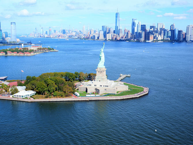Helikoptertur i New York - Frihetsgudinnen & Downtown