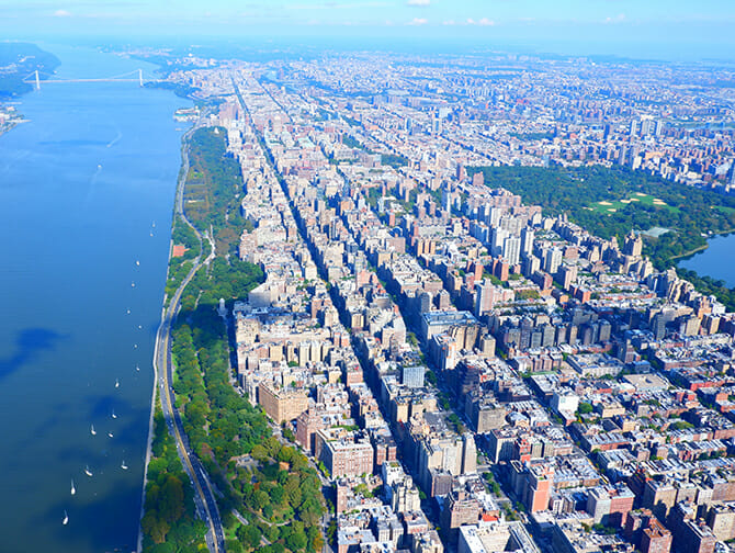 Helikoptertur i New York - Utsikt over Central Park