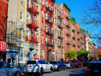 Lower East Side i New York branntrapper