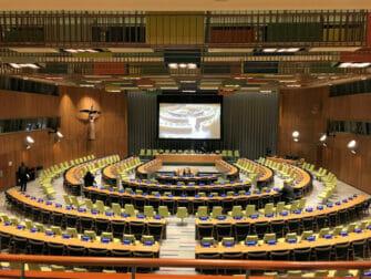 De forente nasjoner i New York Trusteeship Council Chamber