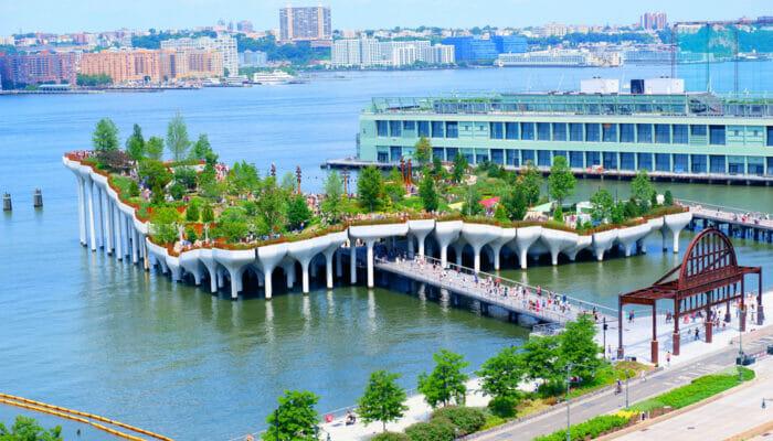 Little Island i New York - Hele øya