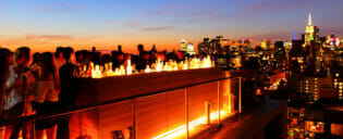 Utelivet i Uptown og Downtown New York
