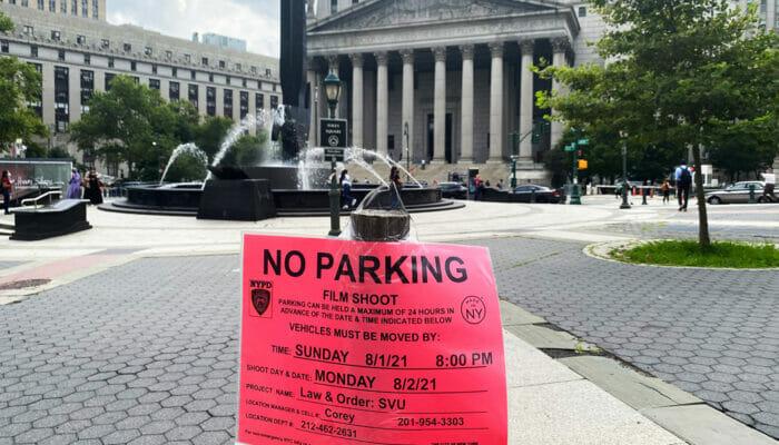 Steder for filminnspilling i New York - Parkering forbudt