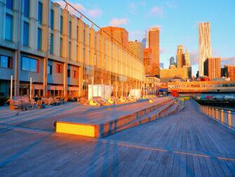 South Street Seaport i New York - soloppgang