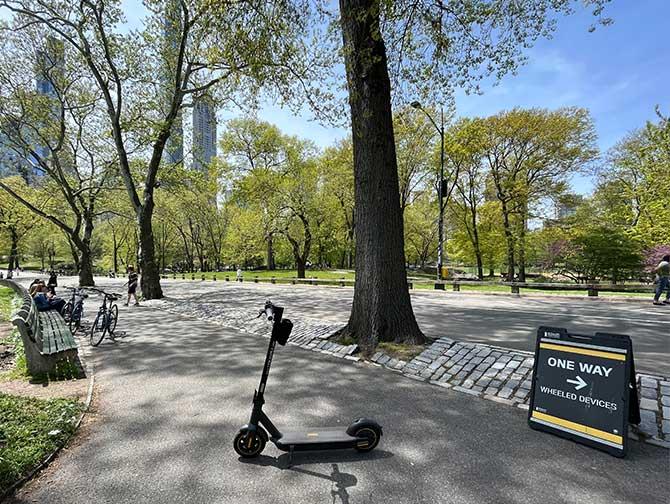 Leie av elektrisk sparkesykkel i New York - Central Park
