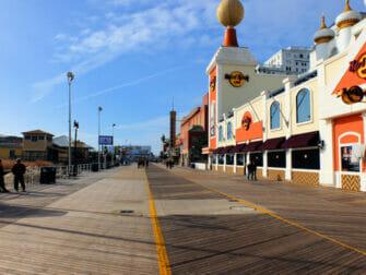 Dagstur fra New York til Atlantic City - strandpromenade