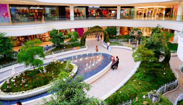 American Dream Mall nært New York - hage