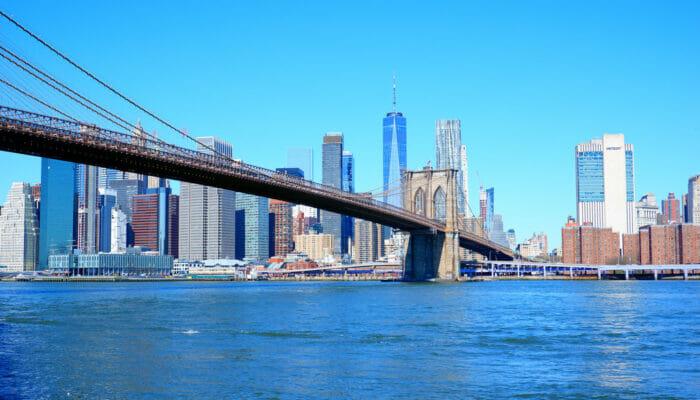 Manhattan i New York - Brooklyn Bridge