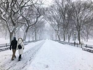 Snø i New York