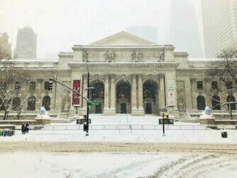 Snø i New York - bygning