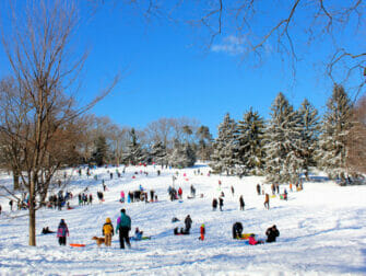 Snø i New York - Central Park
