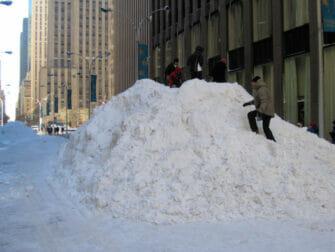Snø i New York - snø