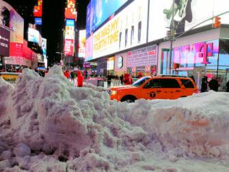 Snø i New York - Times Square