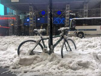 Snø i New York - transport