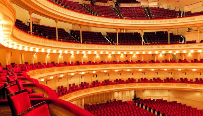 Carnegie Hall i New York - på innsiden